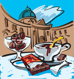 Hot chocolate in vienna Royalty Free Stock Photos