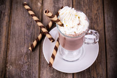 Hot chocolate vintage Stock Photos