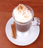 Hot chocolate with whipped cream Royalty Free Stock Photo