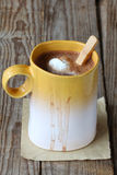 Hot chocolate with whipped cream Stock Photography