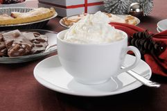 Hot chocolate with whipped crream Royalty Free Stock Images