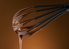 Hot chocolate on a whisk