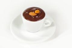 Hot chocolate in white mug Royalty Free Stock Images
