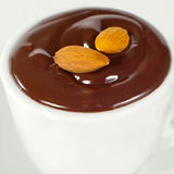 Hot chocolate in white mug2 Royalty Free Stock Photos