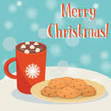 Hot chokolate and cookies Stock Photo