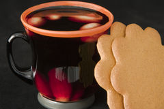 Hot Christmas drink Stock Image