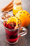 Hot Christmas drink (mulled wine) Royalty Free Stock Photography