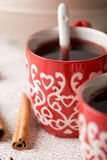Hot Christmas drink with spices Royalty Free Stock Photography