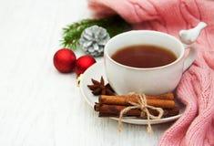 Hot christmas tea Stock Photos