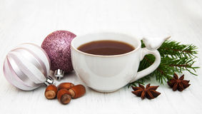 Hot christmas tea stock image