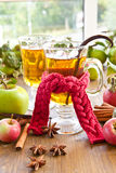 Hot cider with spices Royalty Free Stock Image