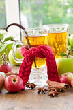 Hot cider with spices Royalty Free Stock Photo