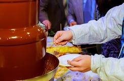 0Hot ciecza czekolada Fotografia Royalty Free
