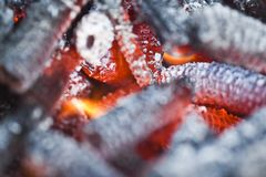 Hot coal Royalty Free Stock Photography