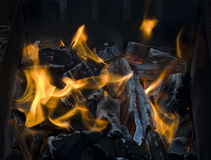 Hot coals Royalty Free Stock Photos