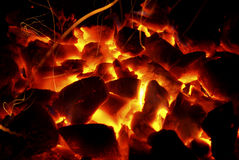 Hot Coals Royalty Free Stock Photography