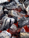 Hot Coals. Ready for a barbecue Royalty Free Stock Photography