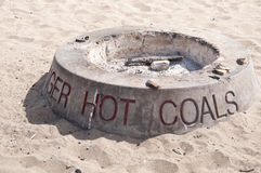 Hot Coals Beach. Fire Pit Royalty Free Stock Images