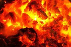 Hot coals! Royalty Free Stock Photo
