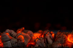 Hot coals. In the fire royalty free stock photography