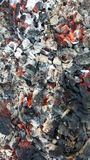 Hot coals in the fire Royalty Free Stock Image