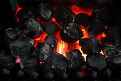 Hot Coals in the Fire Royalty Free Stock Photo
