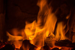 Free Hot Coals In The Fire Royalty Free Stock Photos - 61744948