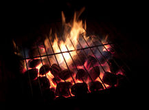 Hot Coals, Long Exposure Stock Photography