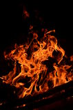 Hot coals in an outdoor fireplace Royalty Free Stock Photo