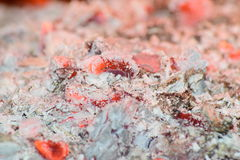 Hot coals in the stove Royalty Free Stock Image