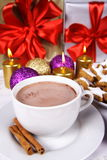Hot coca and cookies Stock Photography