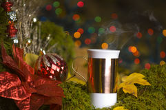 Hot Coco with christmas decorations Stock Image