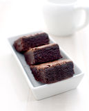Hot cocoa with brownies Stock Images