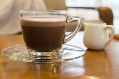 Hot cocoa in cafe Royalty Free Stock Image