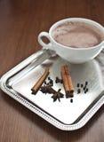 Hot cocoa with cinnamon Stock Photo