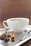 Hot cocoa with cinnamon Royalty Free Stock Photo