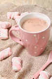 Hot cocoa drink with marshmallows Stock Photography