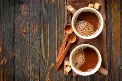 Hot cocoa drink Stock Photos