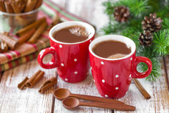 Hot cocoa drink Stock Photo