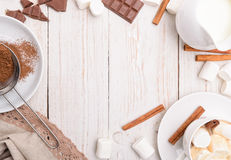 Hot cocoa. Frame. Stock Photography