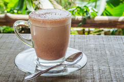 Hot cocoa. The hot cocoa have a breakfast Royalty Free Stock Photo