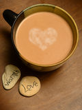 Hot cocoa with heart Royalty Free Stock Image