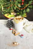 Hot cocoa with homemade cookies Stock Photography