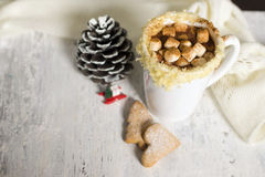 Hot cocoa with homemade cookies Royalty Free Stock Photography