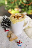 Hot cocoa with homemade cookies Royalty Free Stock Photos