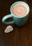Hot cocoa and joy Stock Image