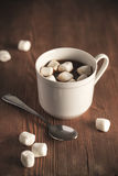 Hot cocoa and marshmallows in cup Royalty Free Stock Photography