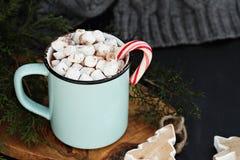 Hot Cocoa and Marshmallows Stock Photo