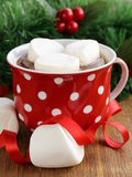 Hot cocoa with marshmallows, sweet drink Royalty Free Stock Photos