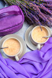Hot cocoa in Provence Royalty Free Stock Photos